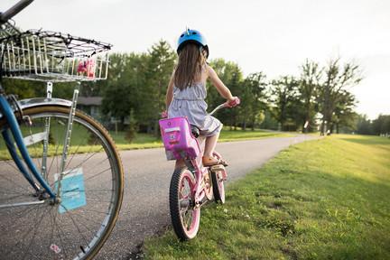Girl Biking Trails in Roseau, Minnesota