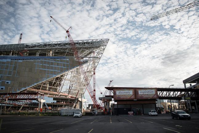 US Bank Stadium Skeleton