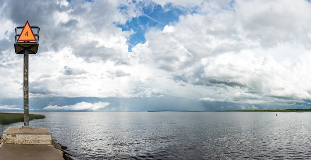 Storms Approach Lake of the Woods in Warroad