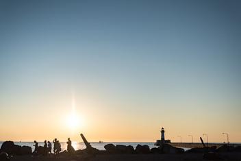 Duluth Lighthouse at Sunrise