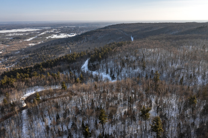 Magney-Snively Trail in Winter - Visit Duluth Aerial