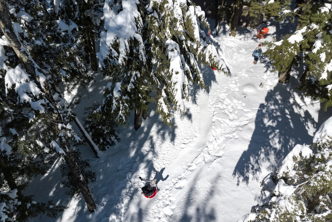 Aerial Sledding in the Northwoods