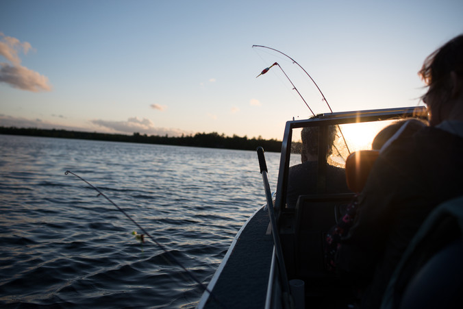 Fishing at Sunset in the Wisconsin Northwoods
