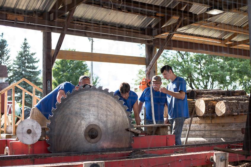 Anoka Couty Fair Logging Demonstration