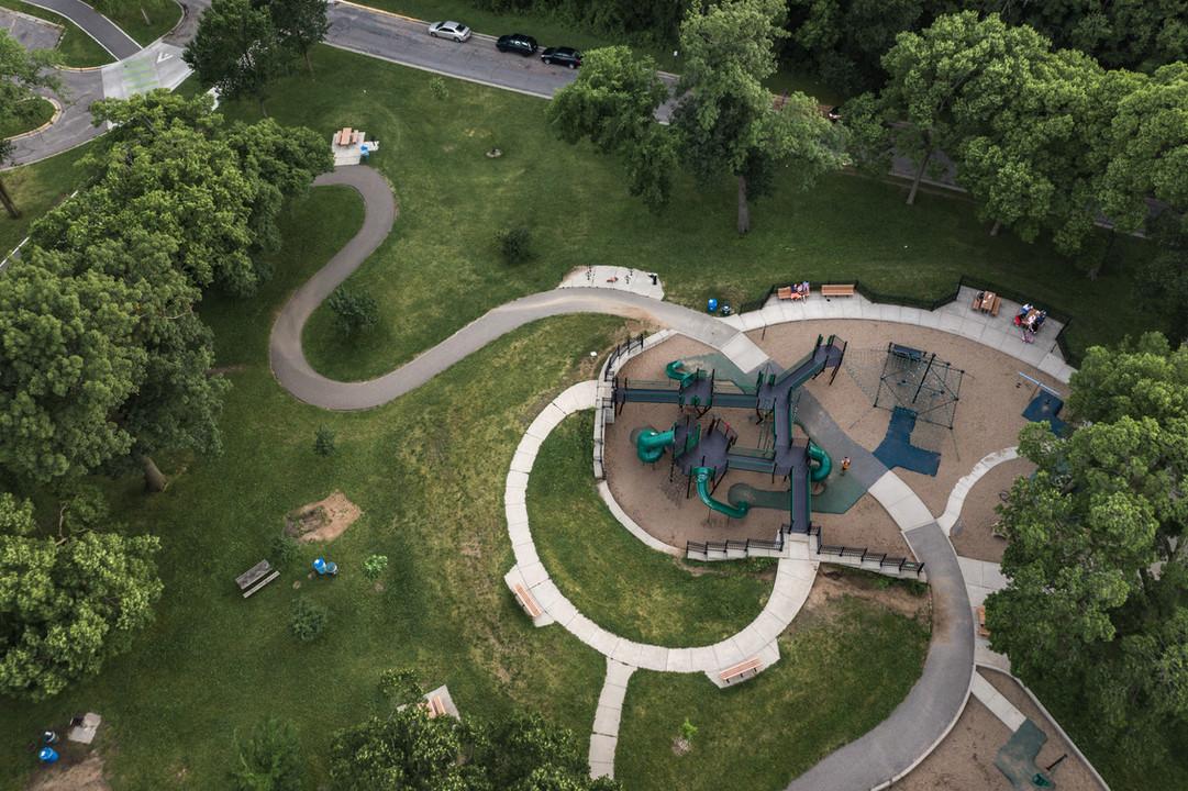 Lake Harriet Playground Aerial