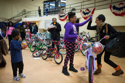 Cathy Spann North Minneapolis Bicycle Giveaway