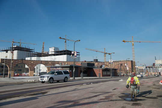 Constrution Worker at Downtown East Commons