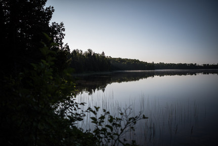 Early Morning at Kimball Lake Campground on the Gunflint Trail