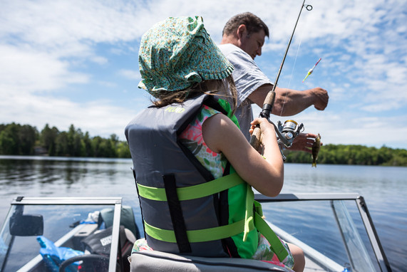 Father's Day Fishing on Three Lakes Chain of Lakes
