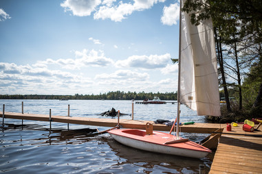 Three Lakes Sail Boat in Wisconsin