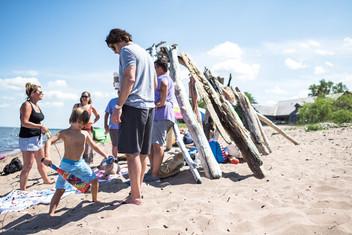 Park Point Beach-goers