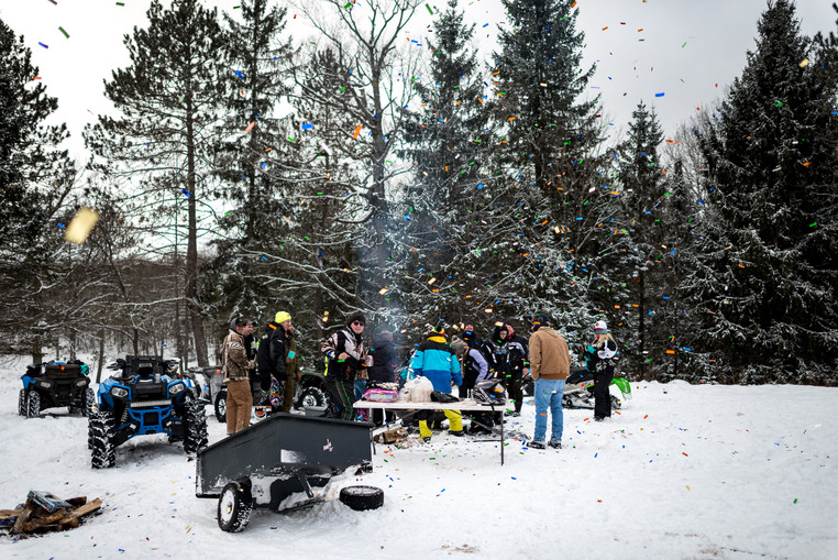 Northwoods' Snowmobile Club Celebrates the New Year