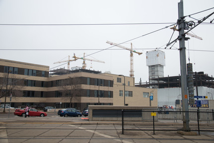 Light Rail Wire and Old Star Tribune Building