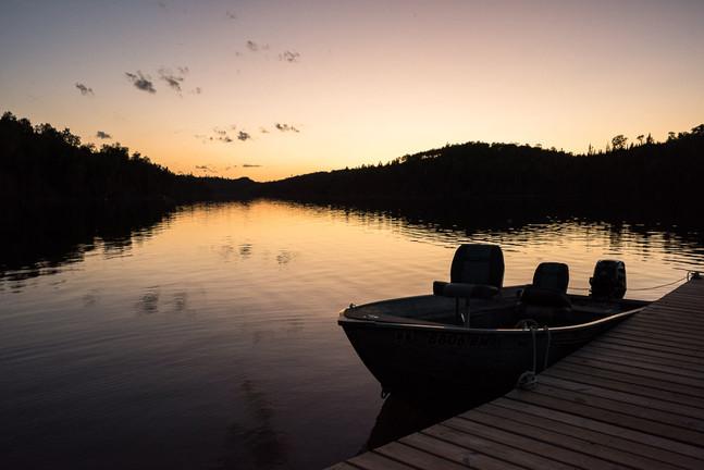 Fishing Boat at Loon Lake on Gunflint Trail