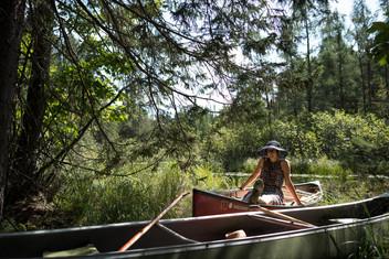Stylish Canoeing in the Northwoods