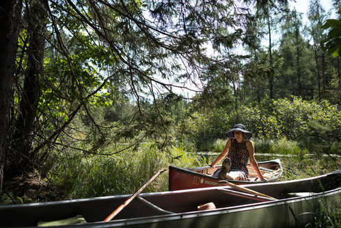 Stylish Canoeing in the Northwoods