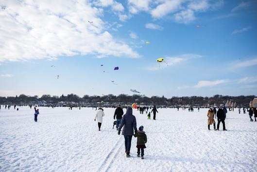 Lake Harriet Kite Festival Revelers