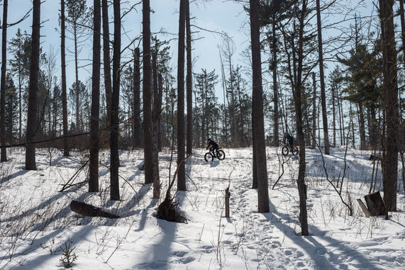 Fat Biking at Duluth's Hartley Nature Center