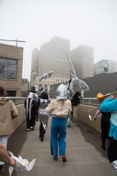 Magic Smelt Parade on a Foggy Day