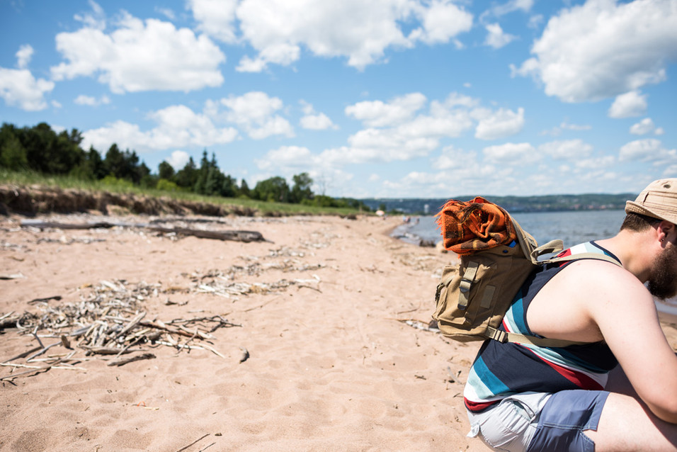 Duluth Pack at Park Point Beach