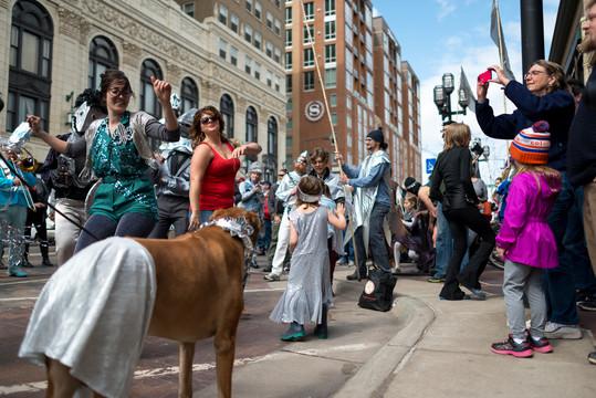 Superior Street Dancers During Duluth's Magic Smelt Parade
