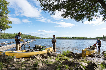 Preparing to Head Out at Apline Lake BWCA for Voyageur Canoe
