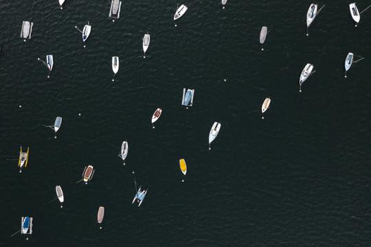 Lake Harriet Sailboats Aerial