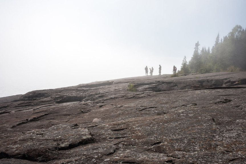Foggy Day at Sunny Day at Artists' Point Grand Marais