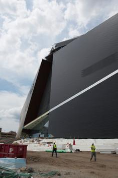 US Bank Stadium Construction