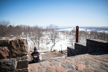 Enger Tower Steps in Winter