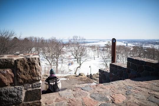 Enger Tower Steps in Winter