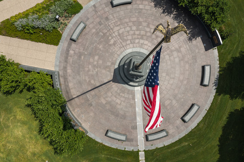 Victory Memorial Parkway Flagpole Aerial