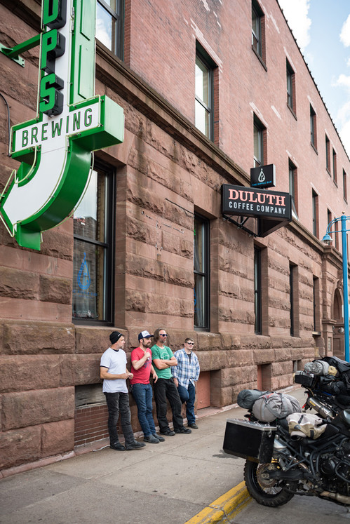 Bikers in Duluth's Canal Park