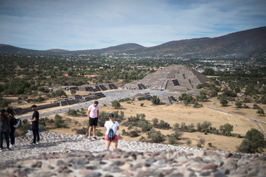 Teotihuacán from the Top of Pyramid of the Sun
