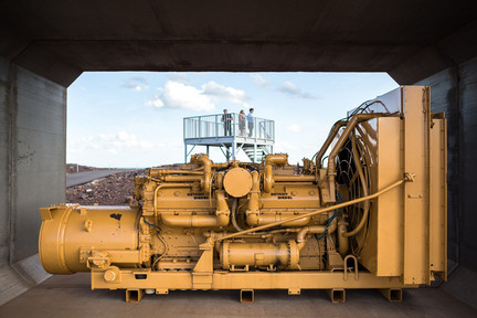 Machinery at the Grand Canyon of the North in Hibbing