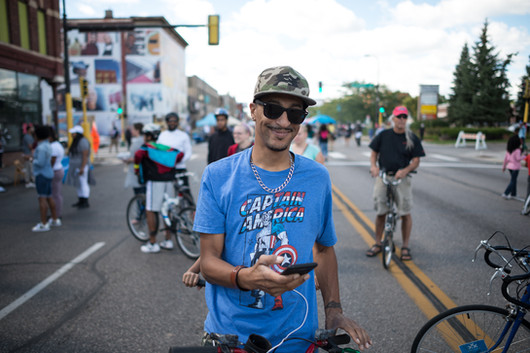 North Minneapolis Bicycle Rider Will Lumpkins