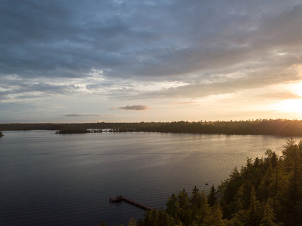 Three Lakes Chain of Lakes Aerial