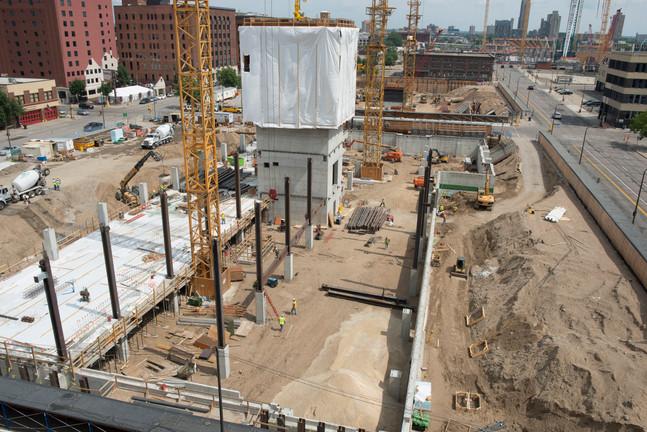 Wells Fargo Towers Under Construction