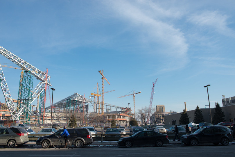 Early US Bank Stadium Construction