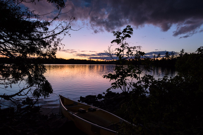 Sag Lake Sunset in the Boundary Waters for Voyageur Canoe
