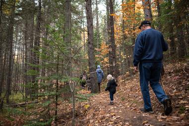 Hiking the Sam Campbell Memorial Trail near Eagle River
