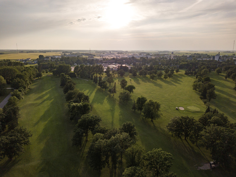 Roseau, Minnesota Golf Course Drone Shot