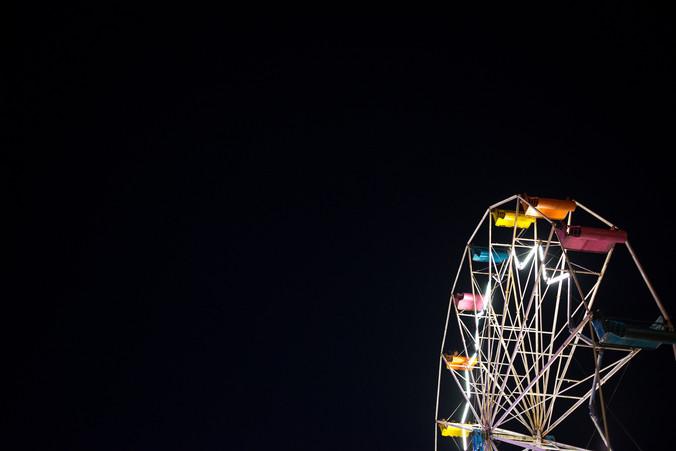 Vilas County Fair at Night