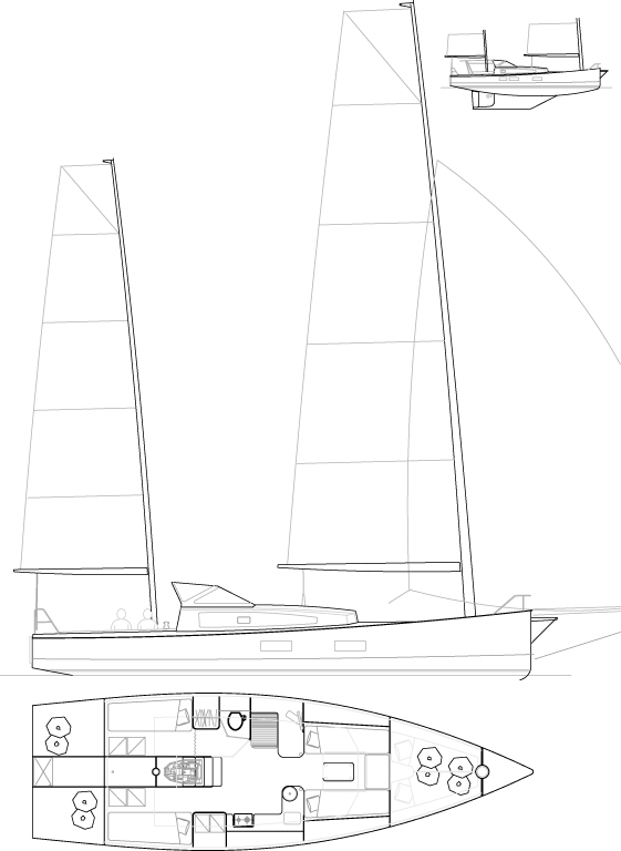 Médium 38' Cat-ketch
