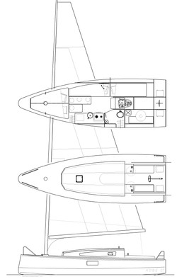 Kobe 27' cat-boat