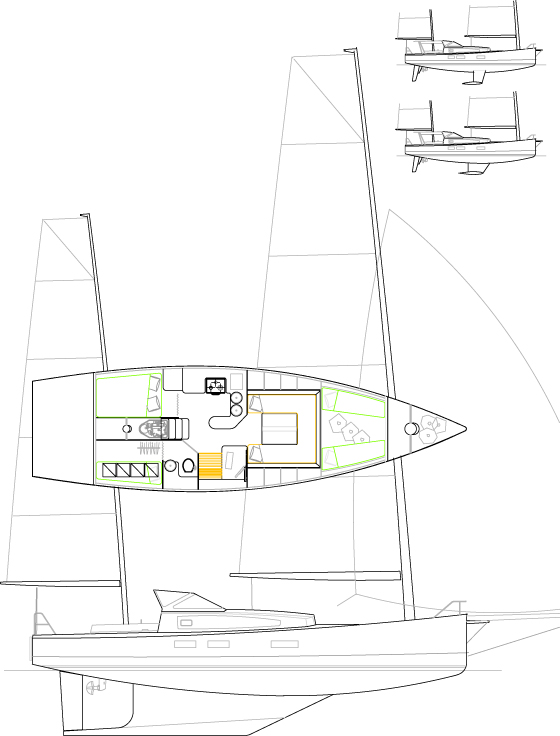 Médium 44' Cat-ketch