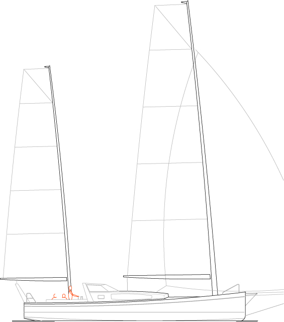 Médium 51' Cat-ketch