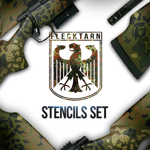 Landscape Flecktarn Paint Stencil Package