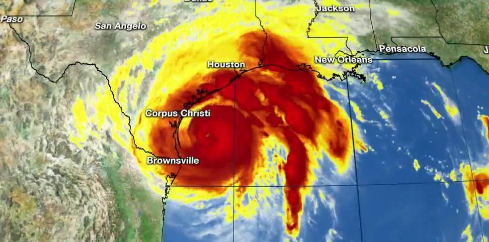 Hurricane Harvey radar off Texas coast_1