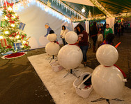 Build A Snowman at Christmas Wonderland in Bakersfield, CA